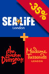 3-in-1 Kombination: Madame Tussauds, London Dungeon & SEA LIFE London