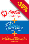 Pakiet 3 w 1: Madame Tussauds, London Eye i rejs