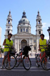 On Bike in Budapest
