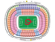 Venue seatingplan Camp Nou soccer arena in Barcelona