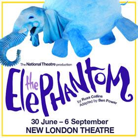 Ross Collins' elskede bog The Elephantom, vil være på plakaten på New London Theatre for en kort periode. Billetter til The Elephantom i London her!