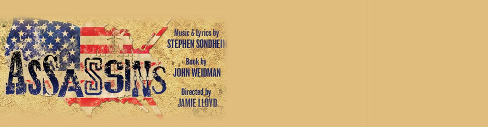 The Chocolate Factory in London presents the musical ASSASSINS by Stephen Sondheim and John Weidman, directed by Jamie Lloyd.