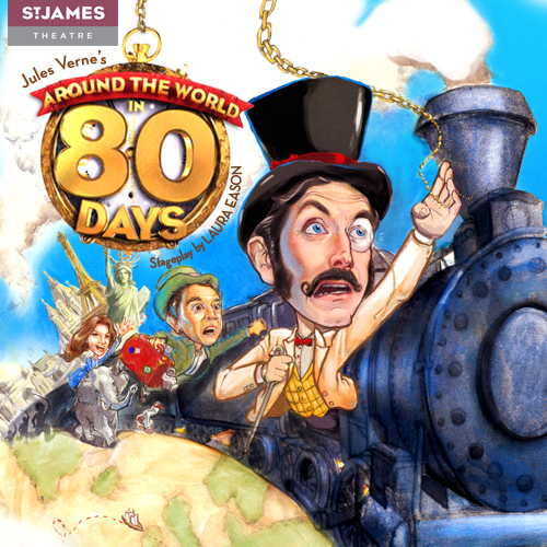 """Se pjäsen """"Around the World in 80 Days"""" i London. Phileas Fogg satsar sin livsförmögenhet på att han kan resa jorden på 80 dagar. Boka biljetter på nätet!"""