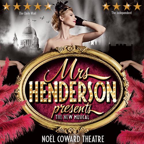 Gå ikke glip af Mrs Henderson Presents, en morsom, spritny, femstjerners musical, som har efterladt anmelderne henrykte! Køb dine billetter i dag!