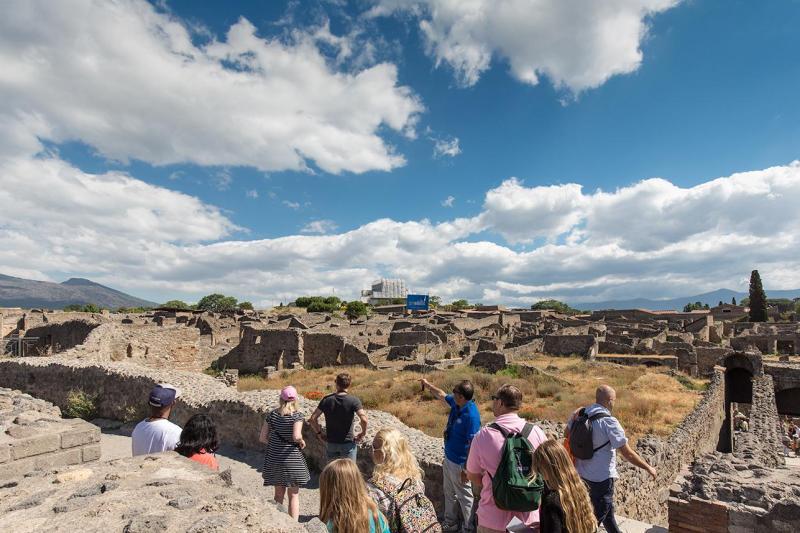 Pompei halvdagstur: Guidet tur & tog