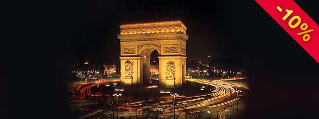 Conhece o esplendor de Paris by night, neste city-tour único que inclui bilhete prioritário para a Torre Eiffel, um cruzeiro Batobuspanorámico pelo Sena eaudioguia em Português. Reserva aqui!
