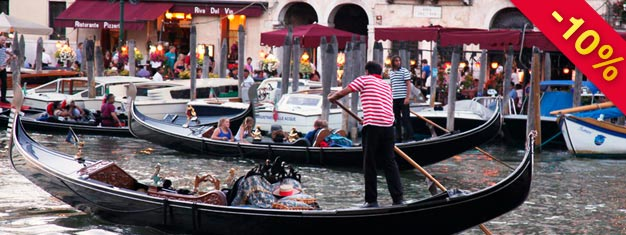 Take a guided walking tour of the less seen side of Venice, hear about some of the local legends and end your tour with a romantic gondola ride. Book here!