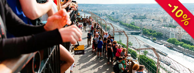 Skip the line to the Eiffel Tower with your guide! Visit all three floors, including the Summit! The tour sells out fast, so book your tour today!
