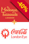 Combinado 2-em-1: Madame Tussauds & London Eye