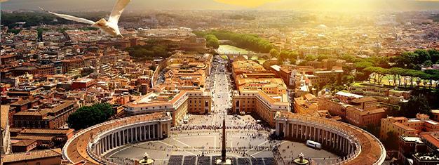 Prueba nuestro popular tour del Vaticano (incluyendo la Basílica de San Pedro) y consigue entradas sin filas al Coliseo. Se agota rápidamente, reserva por adelantado!