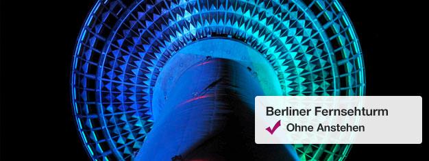 Überspringen Sie die Warteschlange am Berliner Fernsehturm mit Fast View Tickets! Sie können das Datum und die Besuchszeit der Panoramaebene des Fernsehturms wählen! Hier Tickets buchen!