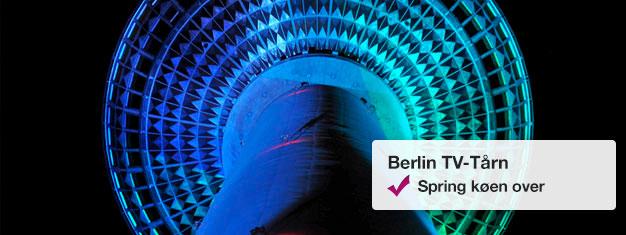 Spring køen over til Berlin TV-tårn med Fast View-billetter! Vælg dato og tidspunkt for dit besøg til panoramaniveauet i TV-tårnet! Køb billetter her!