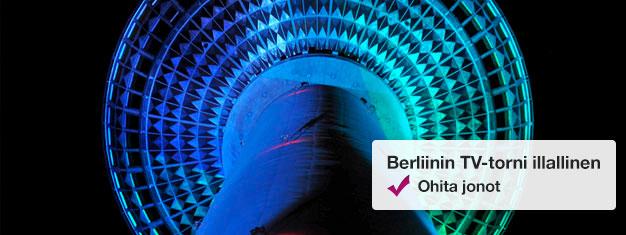 Ohita jonot Berliinin TV-torniin Fast View -lipuilla! Valitse päivä ja aika vierailullesi TV-tornin panoraamakerrokseen! Osta liput täältä!