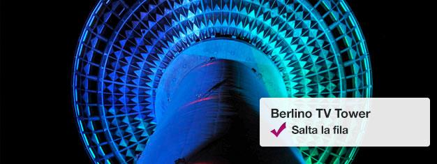 Salta la coda alla Torre della Televisione di Berlino con i biglietti Fast View! Scegli la data e l'orario per cui vuoi visitare il piano del punto d'osservazione della Torre! Compra i tuoi biglietti qui!