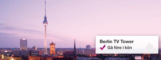 Besök Berlins TV-torn på morgonen med Early Bird-biljetter! Njut av den vackra utsikten från 207 meter över staden. Skippa köerna, boka biljetter hemifrån!