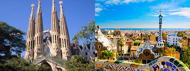 Njut av en guidad tur i Gaudis Park Güell och Sagrada Familia i Barcelona. Gå före i köerna! Inklusive transport mellan de båda platserna! Boka biljetter idag!