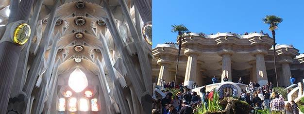 Utforsk fantastiske Park Güell, nyt en guidet tur i Sagrada Familia og utforsk den utrolig utsikten fra tårnene. Bestill her!