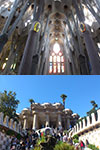 Sagrada Familia with Towers & Park Güell Tour plus Transport