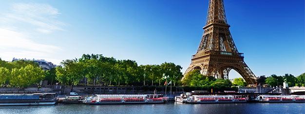 Hopp over køen til Eiffeltårnet! Besøk alle tre nivåer, inkludert det høyeste punktet,Summit! Du får også et herlig cruise for en dag du velger selv. Bestill nå!
