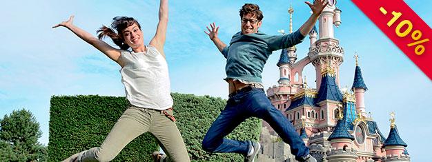 Se eventyr blive bragt til live i Disneyland Paris og udforsk seje filmset i Walt Disney Studios Park. Køb dine billetter online og spring køerne over!