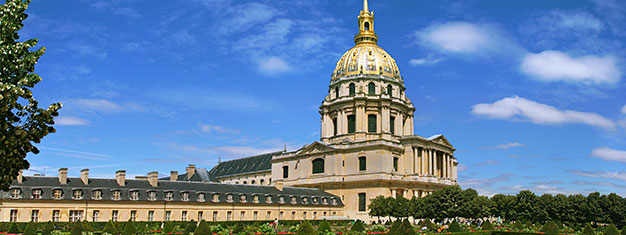 Purchase tickets in advance and skip the tickets lines at the Invalides Museum in Paris! See all the sites, and explore the Army Museum, visit the Dome Church, see Napoleon's tomb & much more.