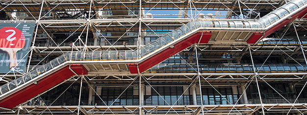 Visit the incredible Pompidou Center in Paris - one of the world's leading modern art centers. It's a must for any art lover! Book online & skip the line!