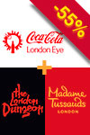 Pacote 3-em-1: Madame Tussauds, London Eye e London Dungeon