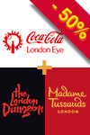 Pakiet 3 w 1: Madame Tussauds, London Eye i London Dungeon