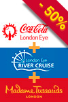 3-in-1 pakke: Madame Tussauds, London Eye & cruise