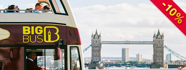 Explore London with Big Bus Tours! Choose between 24, 48 or 72-hour tickets. Enjoy free walking tours and river cruise. Book online and save!