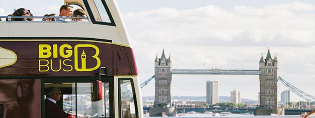 Utforska London med Big Bus hop-on hop-off bussarna! Välj mellan 24, 48 eller 72-timmars biljetter. Inkl. gratis promenader och båtturer. Boka här och spara!