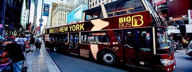 Sube y baja cuando quiera de los buses turísticos del Big Bus Tours en Nueva York City. Reserva tus billetes al Big Bus aquí!