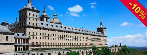 Visitas de Madrid para El Escorial, o palácio, museu e mosteiro conhecido mundialmente. Bilhetes para El Escorial podem ser reservados aqui!