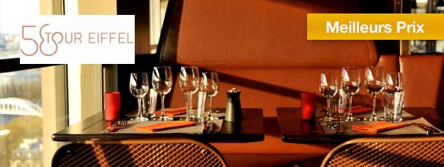 Profitez d'un dîner délicieux au Restaurant 58 de la Tour Eiffel! En plein coeur de Paris. Admirez une vue à couper le souffle. Réservez en ligne!