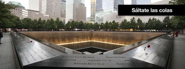 Salta las filas al 09/11 Memorial Museum! Con entradas anticipadas obtendrás una hora exacta para entrar al museo, para que puedas evitar las largas filas.
