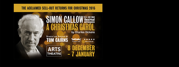 A Christmas Carol is of course based on Dickens' performance with Simon Callow in the leading role. A Christmas must see for 8-88 year olds! Book your tickets here!