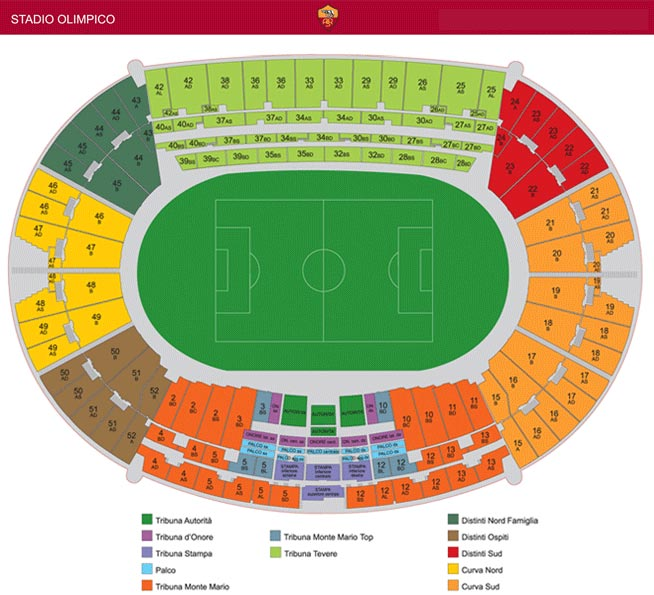 Seatingplan Stadio Olimpico