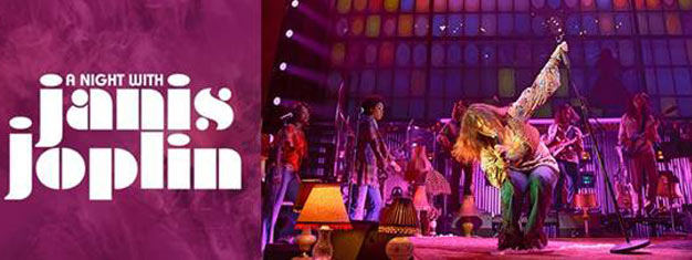 A Night with Janis Joplin on Broadway in New York is a true Rock 'n' Roll musical. Book your tickets for A Night with Janis Joplin on Broadway in New York right here!