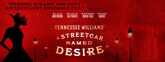 A Streetcar Named Desire, Tennessee Williams sitt mesterverk på Broadway i New York. Bestill billetter til A Streetcar Named Desire i New York her!