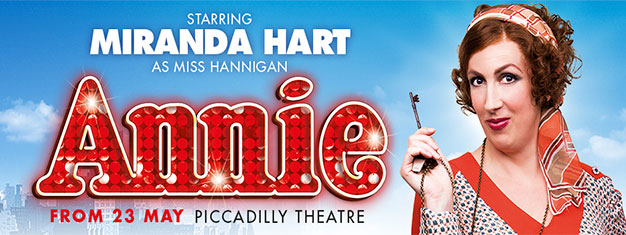 Miranda Hart makes her West End debut in London in a new production of the beloved Broadway musical Annie. Book your tickets for Annie in London here!