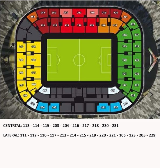 Venue seatingplan Juventus Stadium