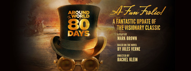 Around The World in 80 Days på Broadway i New York er naturligvis bygget over Jules Verne's klassiske historie. Billetter til Around The World in 80 Days i New York købes her!