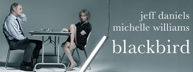 """Se Blackbird med Jeff Daniels og Michelle Williams på Broadway! Blackbird er blevet kaldt """"et af de stærkeste dramaer i vor tid"""" af New York Times."""
