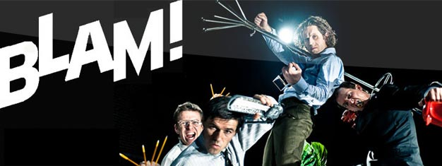 Enjoy BLAM! in Londons West End and see an action-packed and physical performance. Book your tickets for BLAM! in London here!