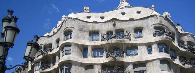 Book your tickets online for this iconic Barcelona landmark and skip the line at La Pedrera de Dia designed by the acclaimed architect Antoni Gaudi.