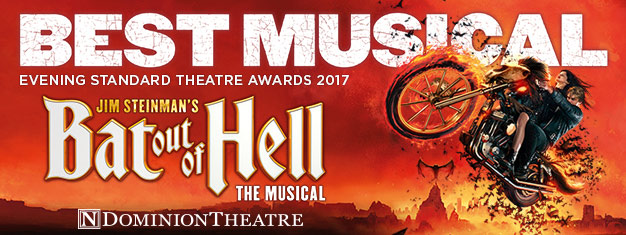 Experience the epic rock'n'roll theatrical fantasy Bat Out of Hell the Musical at Dominion Theatre in April 2018. Book your tickets already today!