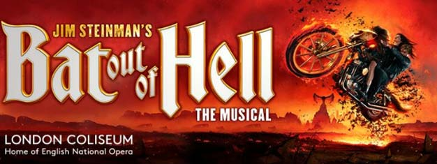 Ervaar de epische rock'n'roll theaterstuk Bat Out of Hell the Musical in het Londen Coliseum in Juni 2017. Boek uw tickets vandaag al!