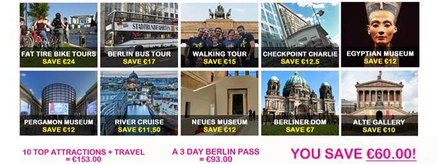 The Berlin Sightseeing Pass gives you free entry to over 50 attractions without further payment. Buy your Berlin Pass here.