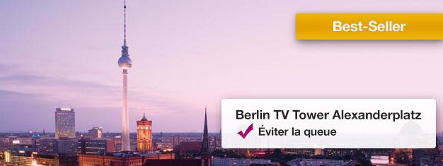 Évitez les longues files d'attente à l'emblématique Tour de la Télévision de Berlin et admirez la vue à 360 degrés. Réservez votre ticket aujourd'hui!