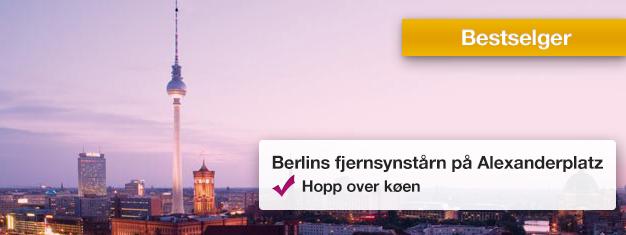 Slipp køen til det ikoniske TV-tårnet i Berlin! Nyt 360-graders utsikt fra 207 meters høyde over byen. Dette er et must! Bestill billetter i dag!
